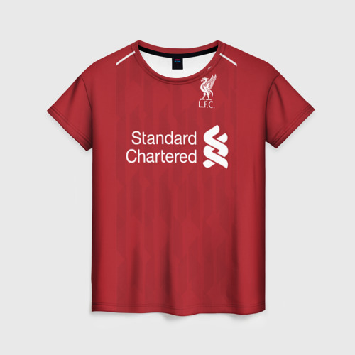 Женская футболка 3D Liverpool home 18-19