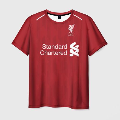 Мужская футболка 3D М.Салах 18-19 home