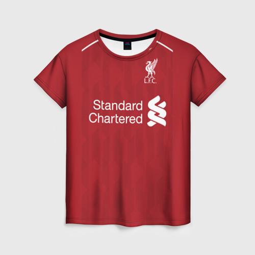 Женская футболка 3D М.Салах 18-19 home