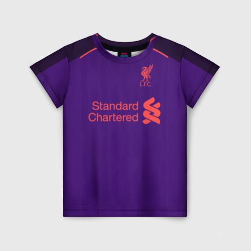 Детская футболка 3D Liverpool away 18-19