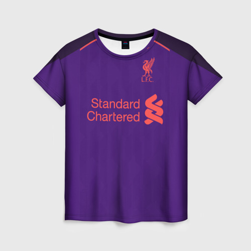 Женская футболка 3D Liverpool away 18-19