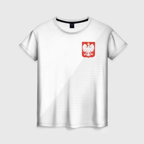 Женская футболка 3D Польша домашняя форма