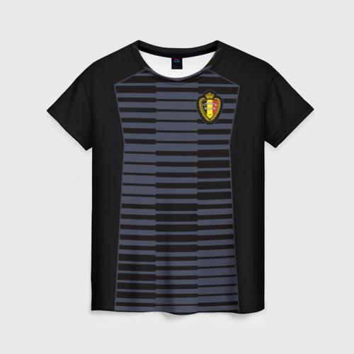 Женская футболка 3D Сборная Бельгии Goalkeeper 2018