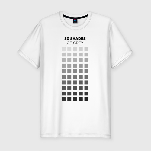 Мужская футболка хлопок Slim 50 shades of grey for designer