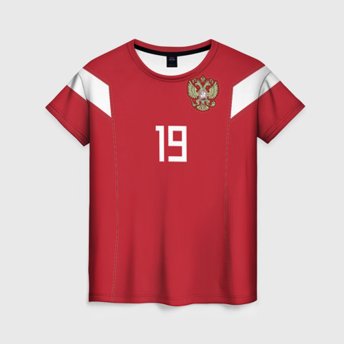 Женская футболка 3D Кузяев ЧМ 2018