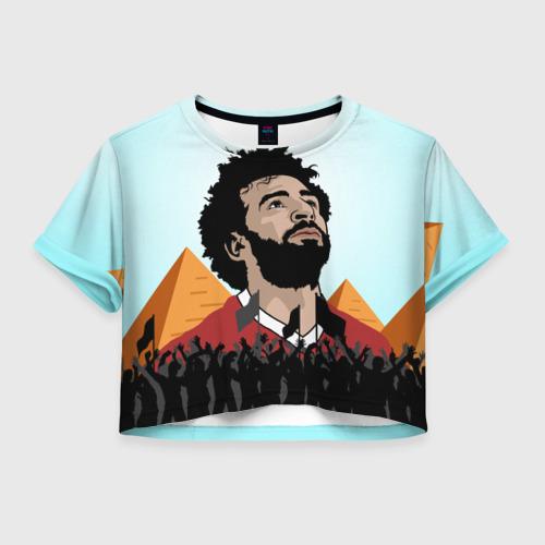 Женская футболка Crop-top 3D Salah Egypt