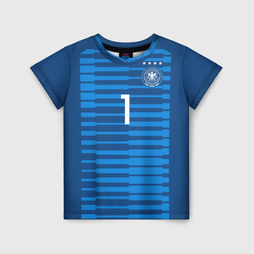 Детская футболка 3D Neuer WC 2018