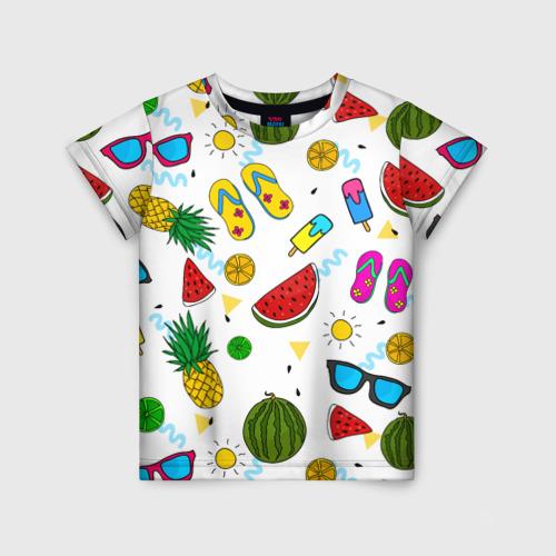 Детская футболка 3D Летняя