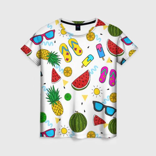 Женская футболка 3D Летняя