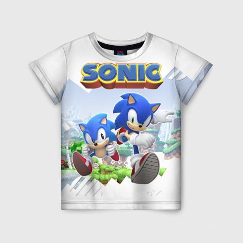 Детская футболка 3D Соник Ёжик