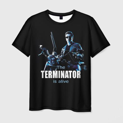 Мужская футболка 3D Terminator alive