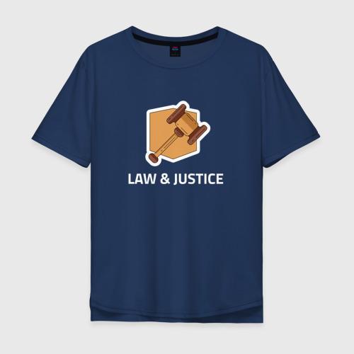 Мужская футболка хлопок Oversize Правосудие