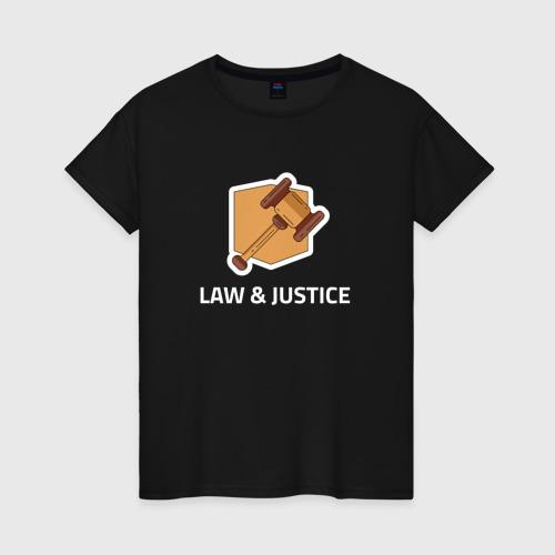 Женская футболка хлопок Правосудие