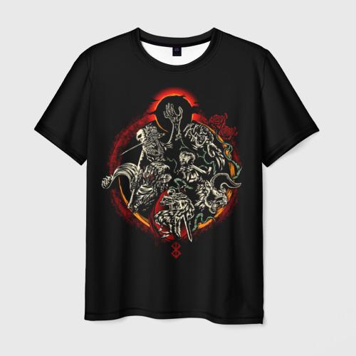 Мужская футболка 3D БЕРСЕРК. Иллюстрация