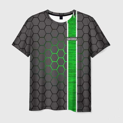 Мужская футболка 3D Skoda
