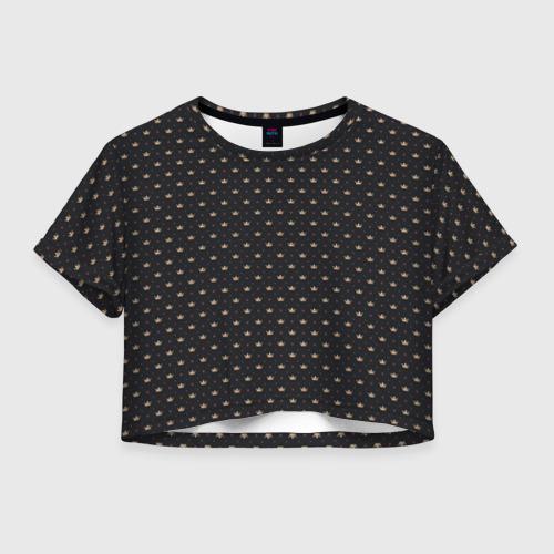 Женская футболка Crop-top 3D Золотая корона