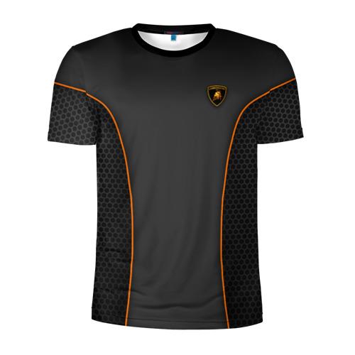 Мужская футболка 3D спортивная Lamborghini