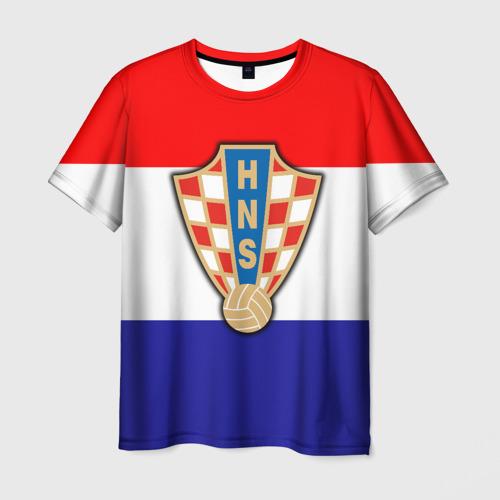 Мужская футболка 3D Сборная Хорватии флаг