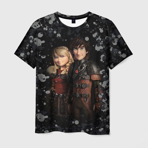Мужская футболка 3D Викинг и Астрид