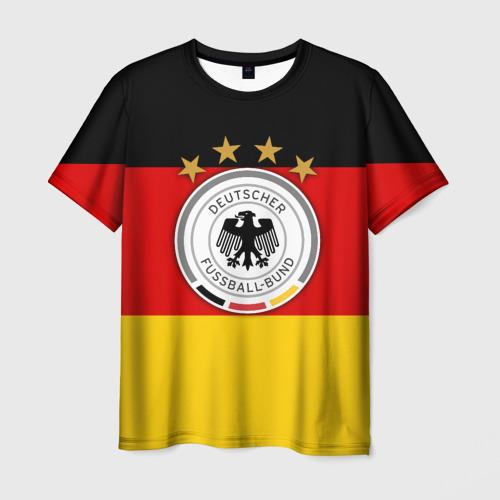 Мужская футболка 3D Сборная Германии флаг