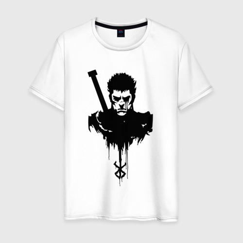 Мужская футболка хлопок Берсерк. Гатс. Черный мечник.