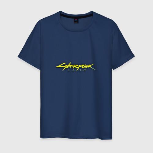 Мужская футболка хлопок CYBERPUNK 2077 (НА СПИНЕ)