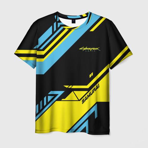 Мужская футболка 3D CYBERPUNK 2077 SAMURAI | САМУРАЙ