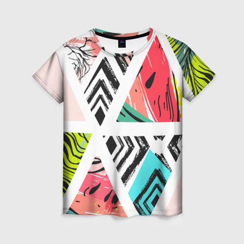 Женская футболка 3D Summer