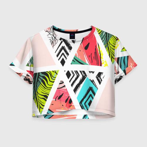 Женская футболка Crop-top 3D Summer