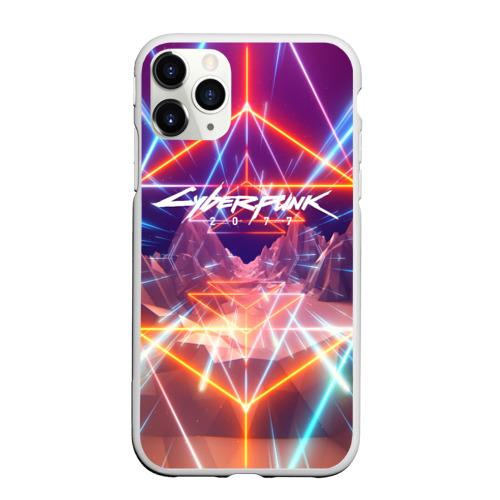 Чехол для iPhone 11 Pro Max матовый Cyber Punk 2077