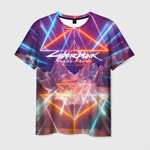 Мужская футболка 3D Cyber Punk 2077