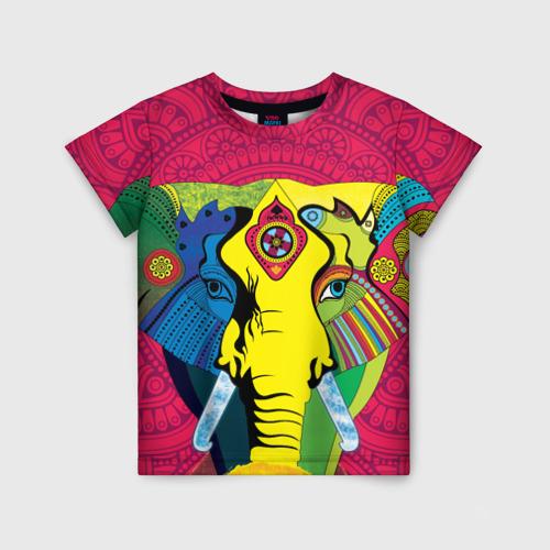 Детская футболка 3D Мама Индия. Ганеша