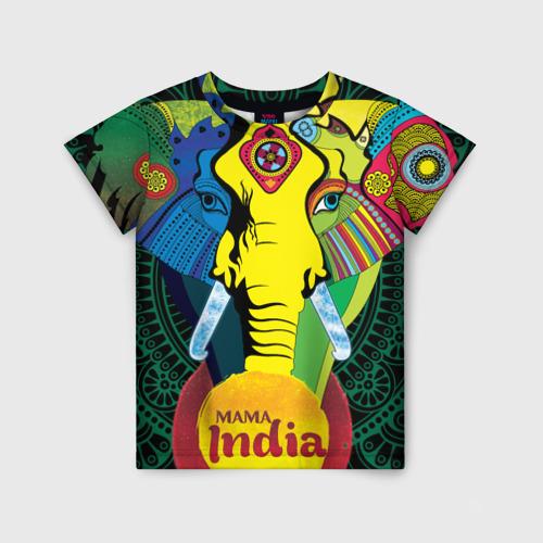Детская футболка 3D Мама Индия
