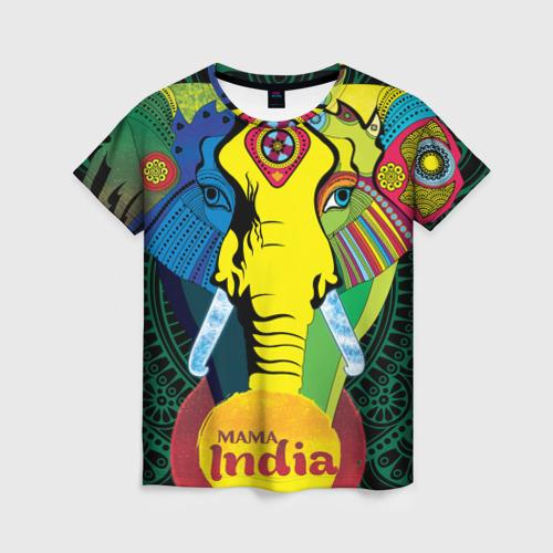 Женская футболка 3D Мама Индия