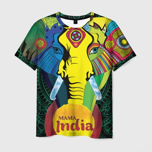 Мужская футболка 3D Мама Индия