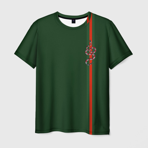 Мужская футболка 3D GUCCI SNAKE / ГУЧЧИ ЗМЕЯ