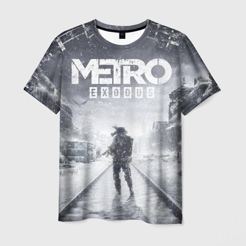 Мужская футболка 3D Metro Exodus: Артём