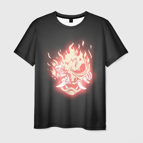 Мужская футболка 3D CYBERPUNK 2077 SAMURAI
