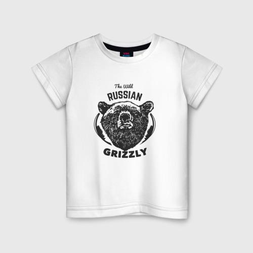 Детская футболка хлопок Русский Медведь