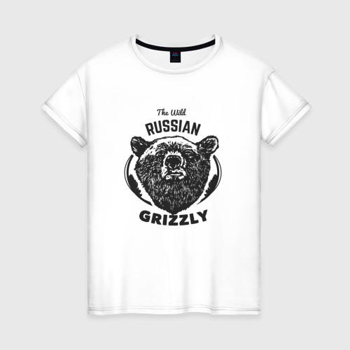Женская футболка хлопок Русский Медведь