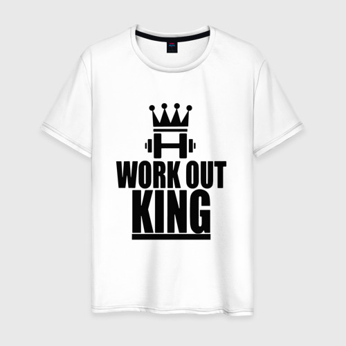 Мужская футболка хлопок WorkOut king