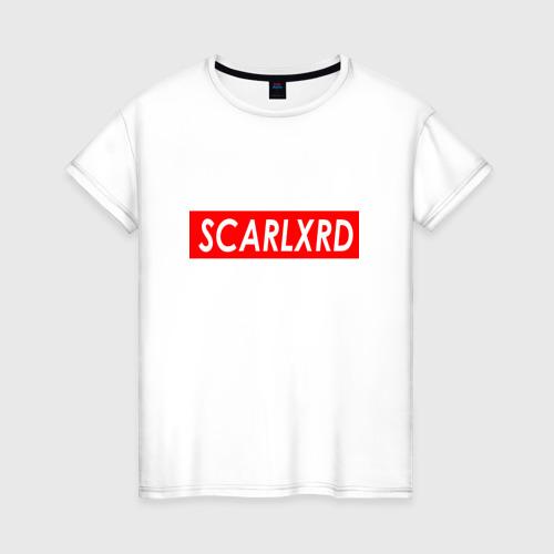 Женская футболка хлопок Scarlxrd