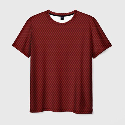 Мужская футболка 3D Красная змея