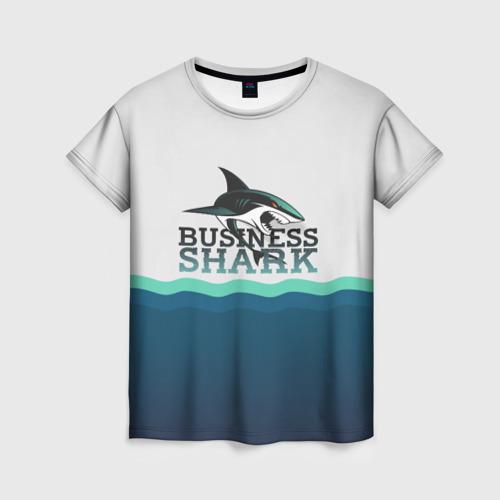 Женская футболка 3D Бизнес-акула