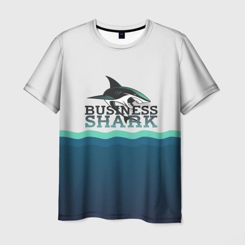 Мужская футболка 3D Бизнес-акула