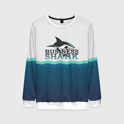 Женский свитшот 3D Бизнес-акула
