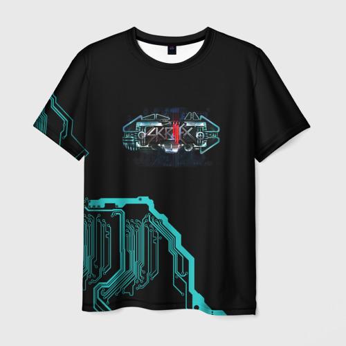 Мужская футболка 3D Skrillex