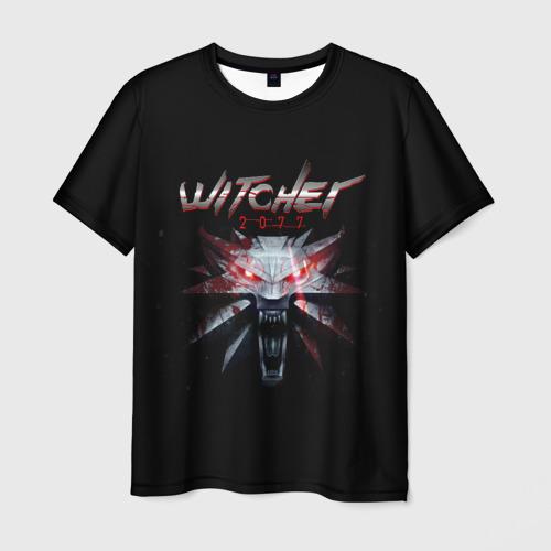 Мужская футболка 3D WITCHER 2077 (НА СПИНЕ)