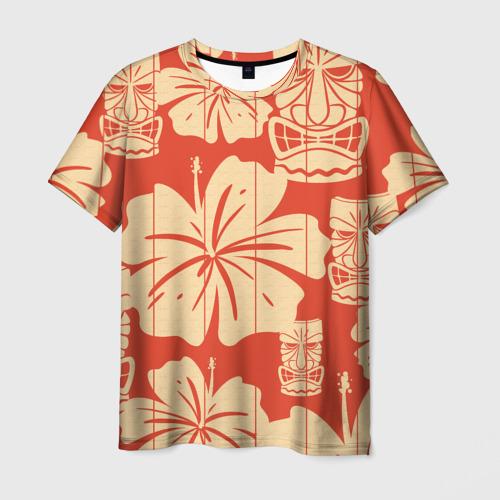 Мужская футболка 3D Гавайские маски