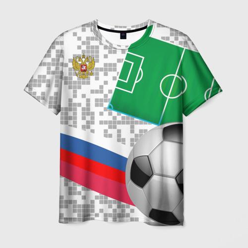 Мужская футболка 3D Русский футбол